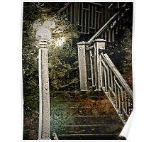 lamp post and stairs Poster