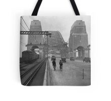 First cars and trains across Sydney Harbour Bridge, March 1932 Tote Bag