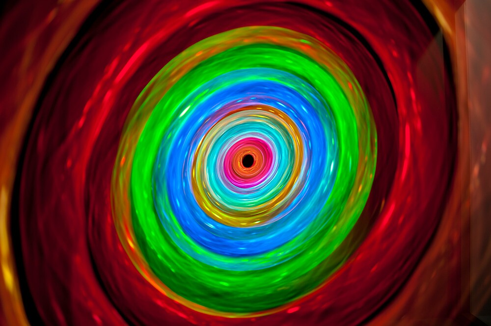 Rabbit hole - colorful light painting physiogram by Alexandr Gnezdilov