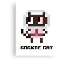 Pixel Cockie cat Canvas Print