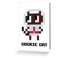 Pixel Cockie cat Greeting Card