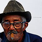 Old Cuban man &amp; cigar, Trinidad, Cuba by buttonpresser