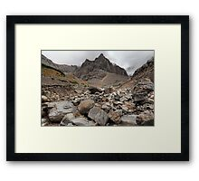 Under Kananaskis glacier Framed Print