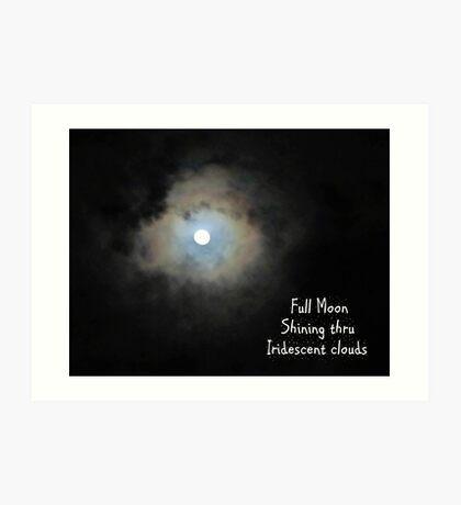 Full Moon Shining Thru Art Print