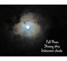 Full Moon Shining Thru Photographic Print
