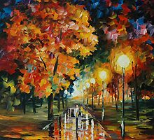 HAPPY ALLEY - LEONID AFREMOV by Leonid  Afremov