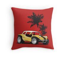 Speed Racer Beach Buggy Throw Pillow