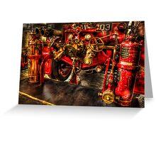 Vintage Fire Engine Greeting Card