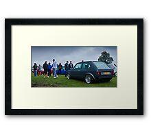 MK1 Golf VR6 On The Show Ground Framed Print
