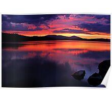Klamath Lake Sunset Poster