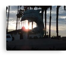 Sunrises and Dolphins in CA Canvas Print