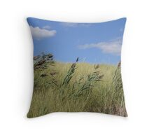 Wind in the Grass Throw Pillow