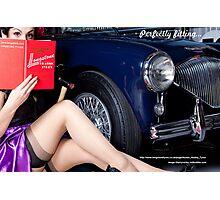 Healey Girl - Longstone Tyres Photographic Print