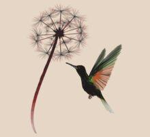 Dandelion and Little Green Hummingbird by Lotacats