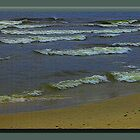 Waves coming into beach by DonaldCole