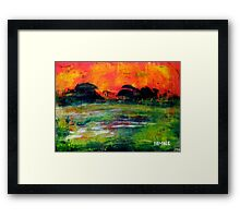 The Wet Patch Framed Print