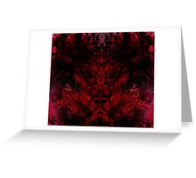 Blood for the Blood God Greeting Card