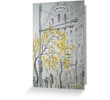 Rush Hour- George st., Sydney Greeting Card