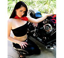50s Biker Girl Photographic Print