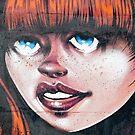 Blue Eyes - Red Hair Girl by yurix