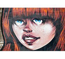 Blue Eyes - Red Hair Girl Photographic Print