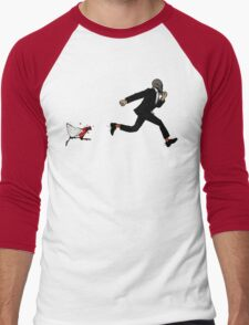 Leroy Having To Deal With The Unexpected Return Of That Dreaded No Good Evil Zombie Chicken Men's Baseball ¾ T-Shirt