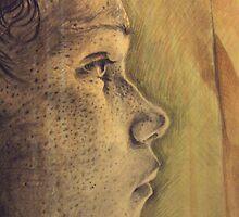 Self Portrait (profile) by Sarah Annesley