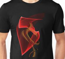 Heart's Golden Ribbon Unisex T-Shirt
