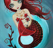 Ruby Big Eye Mermaid by Molly Harrison by Molly  Harrison