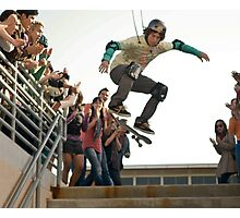 Movie Set - Skateboarding over Stairs Photographic Print