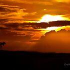 Mountain Sunset by onemistymoo