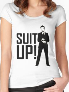 Barney Suit Up Women's Fitted Scoop T-Shirt