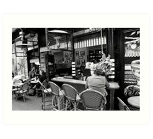 cityscapes #261, four stools Art Print