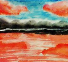 Is this a mirage?  watercolor by Anna  Lewis