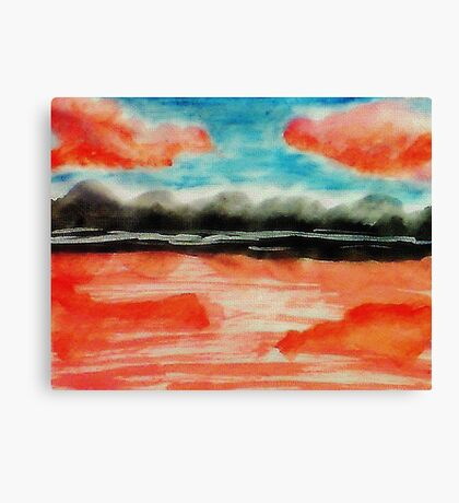 Is this a mirage?  watercolor Canvas Print