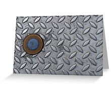Checker Plate Industrial Steel Metal Greeting Card