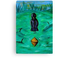 Mama Crow is Amazed! Canvas Print