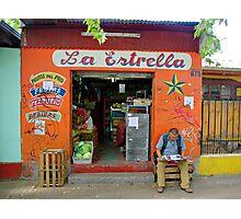 Street Scene - Shop La Estrella - Chile Photographic Print