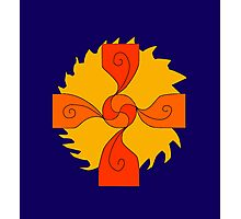 Celtic Sun Cross - C.nick Photographic Print