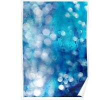 Blue and White Light and Water Poster
