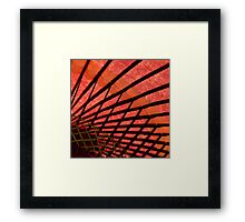 RED umbrella Kyoto Framed Print