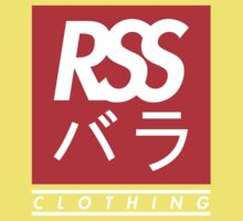 RSS バラ CLOTHING (WHITE TEXT) Kids Tee