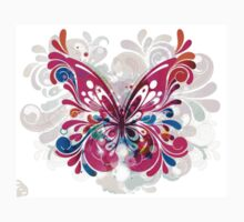 Abstract Butterfly in Blues, Pinks and Purples Baby Tee