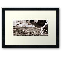The water you touch... Framed Print