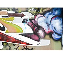 Abstract Graffiti fragment on the textured wall Photographic Print