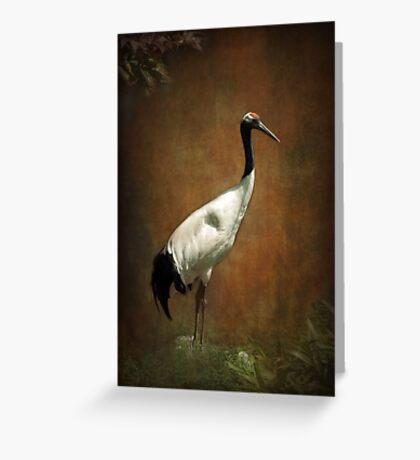 Bringer of luck - Japanese Crane Greeting Card