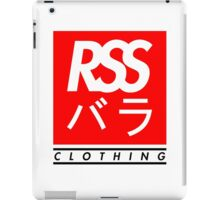 RSS バラ CLOTHING (BLACK TEXT) iPad Case/Skin