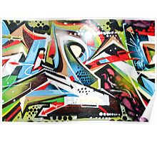 Abstract Graffiti on the textured wall Poster