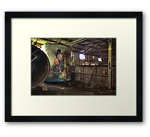Tub Girl Framed Print