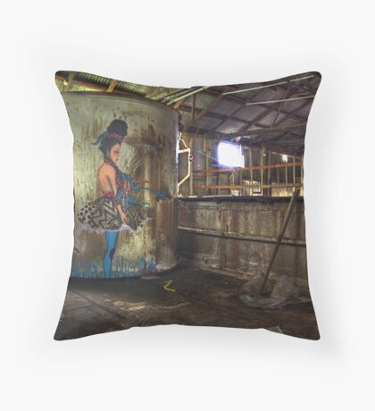 Tub Girl Throw Pillow